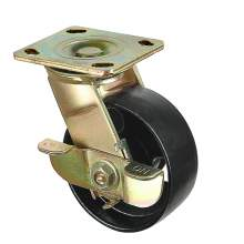 """4"""" Heavy-Duty Swivel With Brake Plate Caster 1000 lb Load Rating"""
