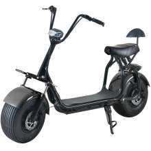 Electric Fat Tire  Scooter For Adults With Two Wheels One Seat 60V 20Ah 2000W Black