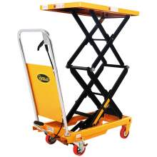 "Manual Double Scissor Lift Table 770 lbs 51.2"" Lifting Height"