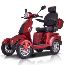 Fastest Mobility Scooter With Four Wheels For Adults & Seniors, Red
