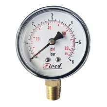"2-1/2"" Dry Pressure Gauge 85 PSI Bottom Entry 1/4"" NPT"