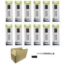 Whiteboard Marker Pen Bullet Tip 2 Colors(Black,Blue) Set of 24