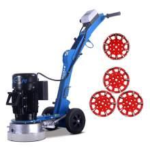 10'' Folding concrete floor grinder & 4x grinding heads