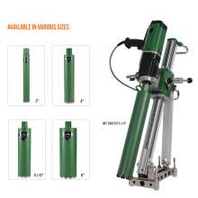 Concrete Core Drill Motor 2200W Rig With 5x Core Bits Anchoring Set