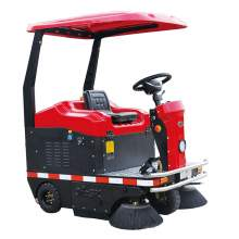 """Ride-On Vacuum Sweeper 55"""" Cleaning Path Sun Roof DC 48V AGM Battery"""