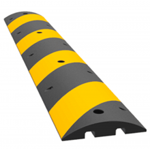 "Modular Rubber Speed Bump Hump Textured Surface 72""  × 12"" × 2.5"""