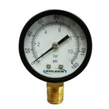 "Industrial Pressure Gauge 2"" 160 PSI/Bar"