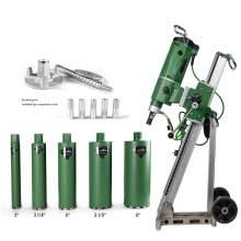 Concrete Core Drill motor  3300W Drill stand 5x Core Bits & Anchor Set