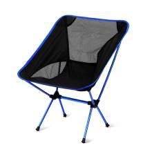 Outdoor Portable Ultralight  Folding Camping Moon Chair Dark Blue