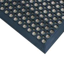 "Rubber Drainage Mat 1/2"" Thick 3' x 5' Black"