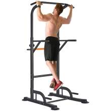 300LBS Power Tower Pull Up Dip Station , 6 Adjustable Heights