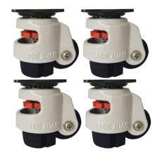 "4pcs 40F Retractable Leveling Machine Caster 1-1/2"" Plate 110lbs Nylon"