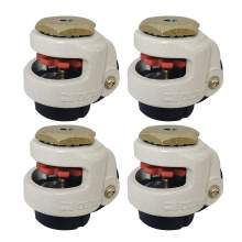 "4pc 60S Stem Retractable Leveling Machine Caster 2"" Plate 550lbs Nylon"