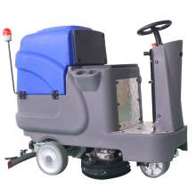 26'' 25Gal Ride-On Automatic Floor Scrubber 3*8V/150Ah Blue