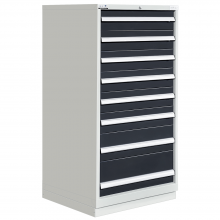 "Modular Drawer Cabinet 8 Drawers 28-1/4""W × 28-1/2""D × 60""H"