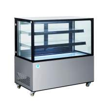 48 in. Square Glass Stainless Steel Refrigerated Bakery Display Case