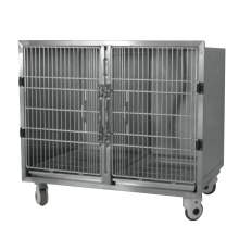 Dog Cage Banks Stainless Steel 1 or 2 units Modular Dog Crate Bank