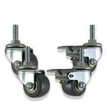 """AXL 1.5"""" Threaded Stem Mount Industrial Castors Brake Swivel Wheel"""