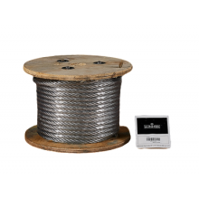 "Galvanized Cable 3/8"" x 100' Capacity 2880 Lbs 7x19"