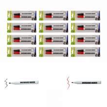 Whiteboard Marker Pen Bullet Tip 2 Colors (Black,Red) Set of 24