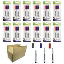 Whiteboard Marker Pen Bullet Tip 3 Colors(Black,Red,Blue) Set of 36