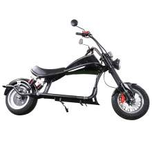 Fat Tire Electric Scooter 2000W 60V 20AH Lithium Battery, Black