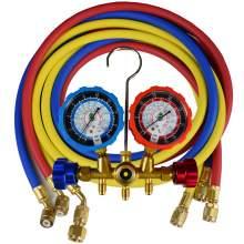 3 Way AC Manifold Gauge Set with Long 5.9FT Hose R404A/R407C/R22/R134a Refrigerant Charging