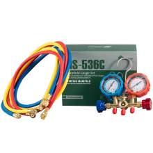 3 Way AC Manifold Gauge Set R404A/R407C/R22/R134a Refrigerant Charging