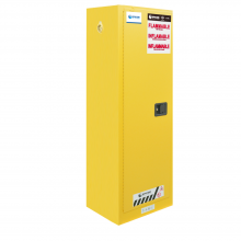 "FM Approved 22gal Flammable Cabinet 65x 24x 19"" Self-closing Door"