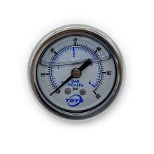"1.5 Inch Liquid Pressure Gauge Back Connection 1/8""NPT 0-60PSI/BAR"