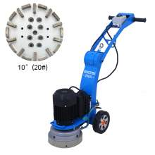 10'' Concrete floor edge grinder with 10''  soft bond diamond cup 20#