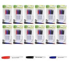 Whiteboard Marker Pen Bullet Tip 3 Colors(Black,Red,Blue) Set of 48