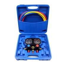 3 Way AC Manifold Gauge Set R410a R134a R22 R32 Refrigerant Charging