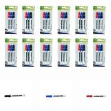 Whiteboard Marker Pen Bullet Tip 3 Colors (Black,Red,Blue) Set of 36