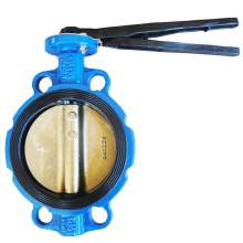 """6"""" Wafer Butterfly Valve Resilient Seated Cast Iron 232PSI"""