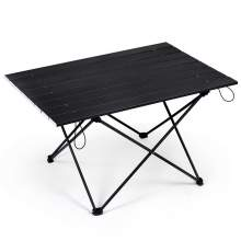 Ultralight Aluminum Folding Outdoor Camping Table 3 Size Large Black