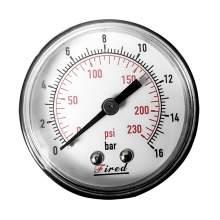"""2-1/2"""" Dry Pressure Gauge 230 PSI Back Entry 1/4"""" NPT"""