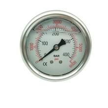 P1 2,5 Inch Pressure Gauge 1/4 Npt 0-6000Psi/0-400Bar Back Entry SS304