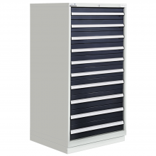 "Modular Drawer Cabinet 10 Drawers 28-1/4""W × 28-1/2""D × 60""H"