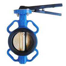 """4"""" Wafer Butterfly Valve Resilient Seated Cast Iron 232PSI"""