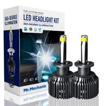 H1 LED headlight bulbs 70W 6,000K sky white 10,000LM brightness