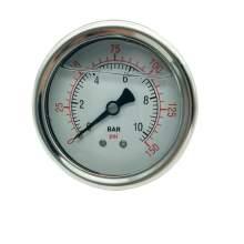 P1 2.5 Inch Pressure Gauge 1/4 Npt 0-150Psi/0-10Bar Back Entry SS304