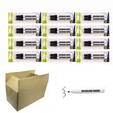 Whiteboard Marker Pen Bullet Tip Black Color (Black,Black) Set of 24