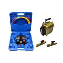 3 Way A/C Manifold Gauge Set Fits R410a 5/16'' Ball Valve air pump