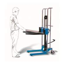 """Manual lift Stacker 880Lbs Capacity 60"""" Max Lifting Height"""