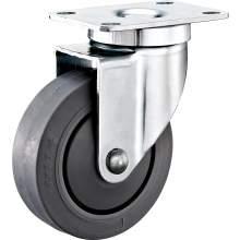 "3.5"" Top Plate Swivel TPR Caster(Flat)(Annular Bearing) 221 LBS"