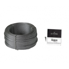 "Galvanized Cable 1/8"" x 250' Capacity 340 Lbs 7x7"