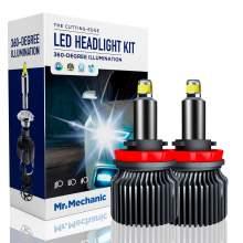 H11/H8/H9 LED headlight bulbs 70W 6,000K sky white 10,000LM brightness