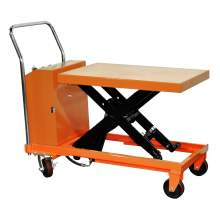 Bolton Tools Hydraulic Hand Electric Table Truck | 2200 lb | ETF100D