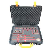"""1/2"""" Drive SAE Al-Cu Non-Sparking Socket Wrench Set 17-PC"""